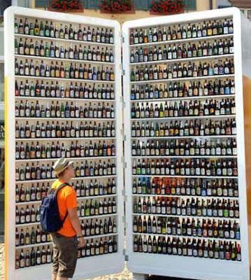 Männertraum lustig - großer Kühlschrank mit Bier