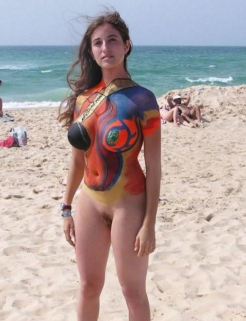 girl body art painting