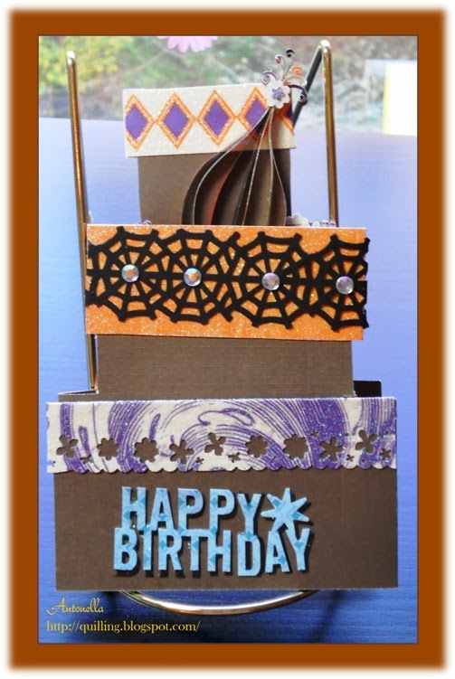 World Card Making Day - Fun Quilling Happy Birthday Card