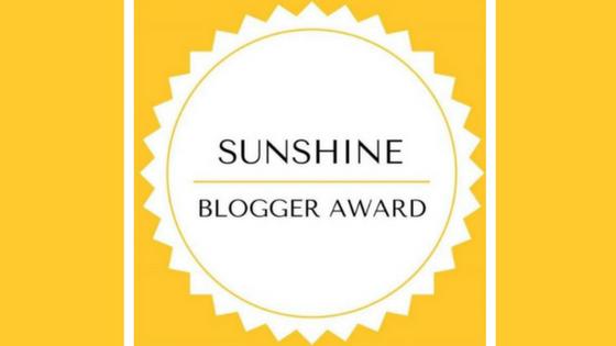 Nominated for a Sunshine Blogger Award
