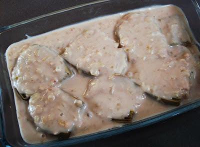 alcachofas con puré de castañas listas para gratinar