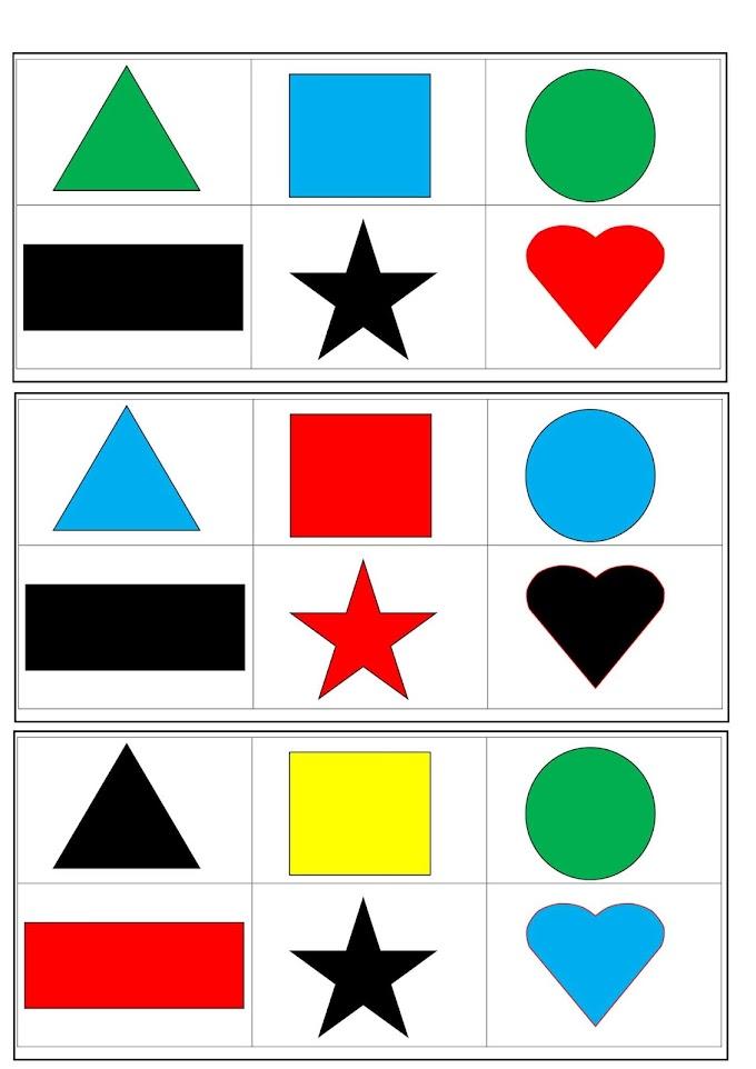 Bingo das Formas Geométricas Educação Infantil.