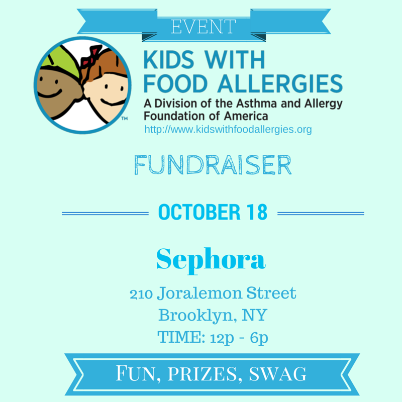 Speaking Event: Kids With Food Allergies, Sephora, Brooklyn