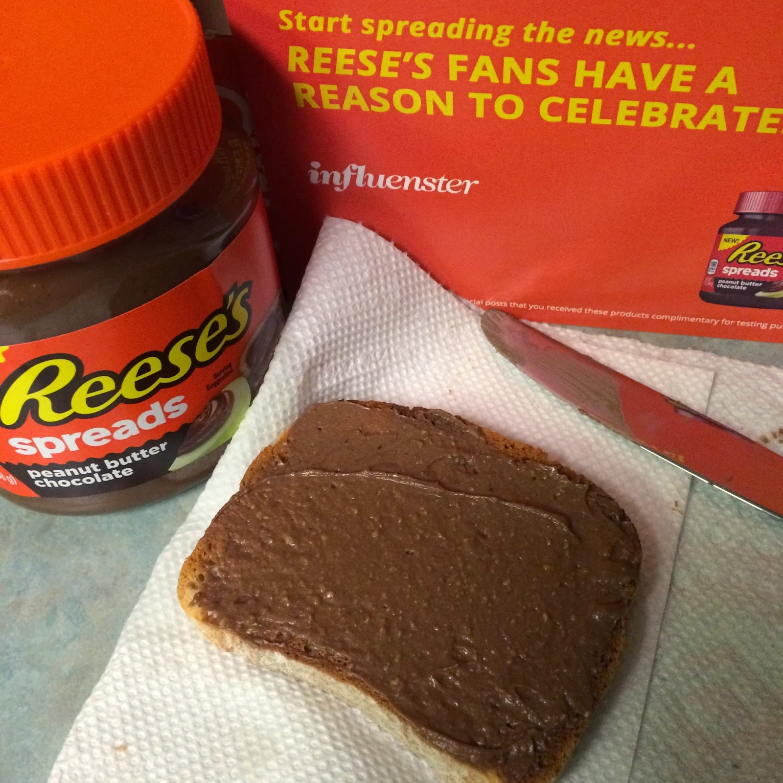 #reesesspreads Reese's Spreads on gluten free toast #review