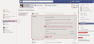 cara menghentikan pemberitahuan facebook