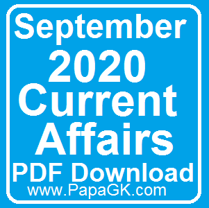 September Current Affairs 2020 PDF download
