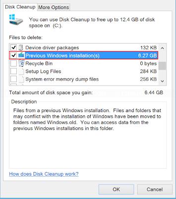 Cara untuk Menghapus File Windows Old setelah Update Sistem Operasi Windows