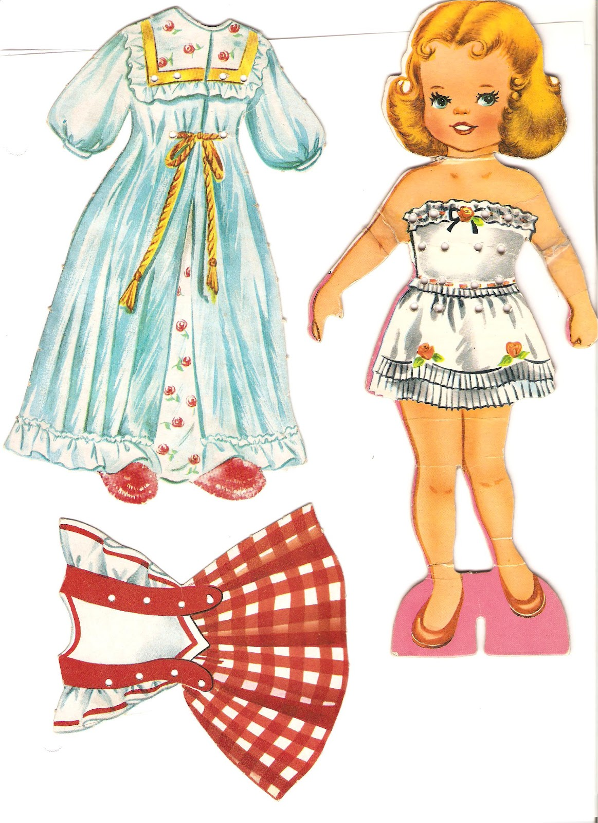 Miss Missy Paper Dolls Dolls With Lace On Clothes Set 2