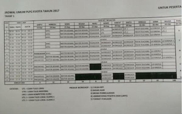 Inilah Jadwal PLPG 2017 Dan Materi KPPG Peserta PLPG