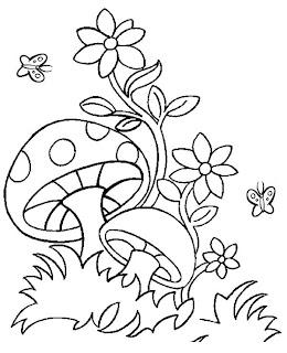 Desenhos Para Imprimir E Colorir Cogumelos Para Colorir