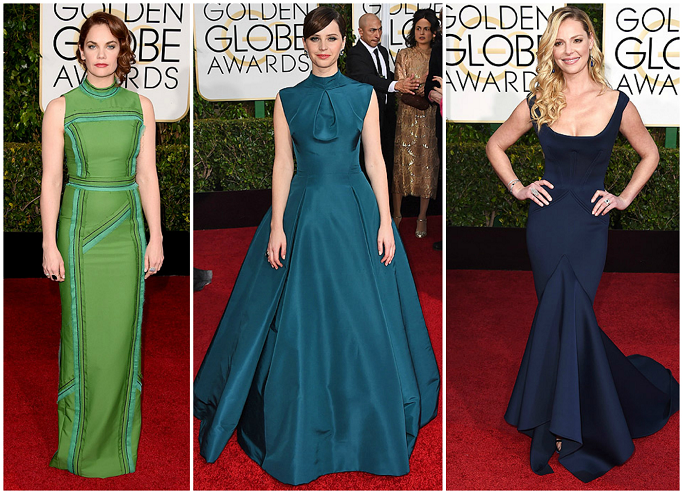 Ruth Wilson at Golden Globes Red Carpet Felicity Jones  at Golden Globes Red Carpet Katerine Heigel at Golden Globes Red Carpet