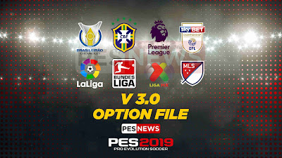 PES 2019 PS4 PESNews v3 Option File Season 2018/2019