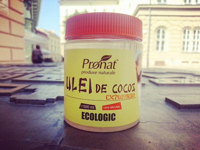 Ce ulei folosim la masaj in Timisoara. Uleiul de cocos BIO, extravirgin de la Pronat. Borcan 500ml