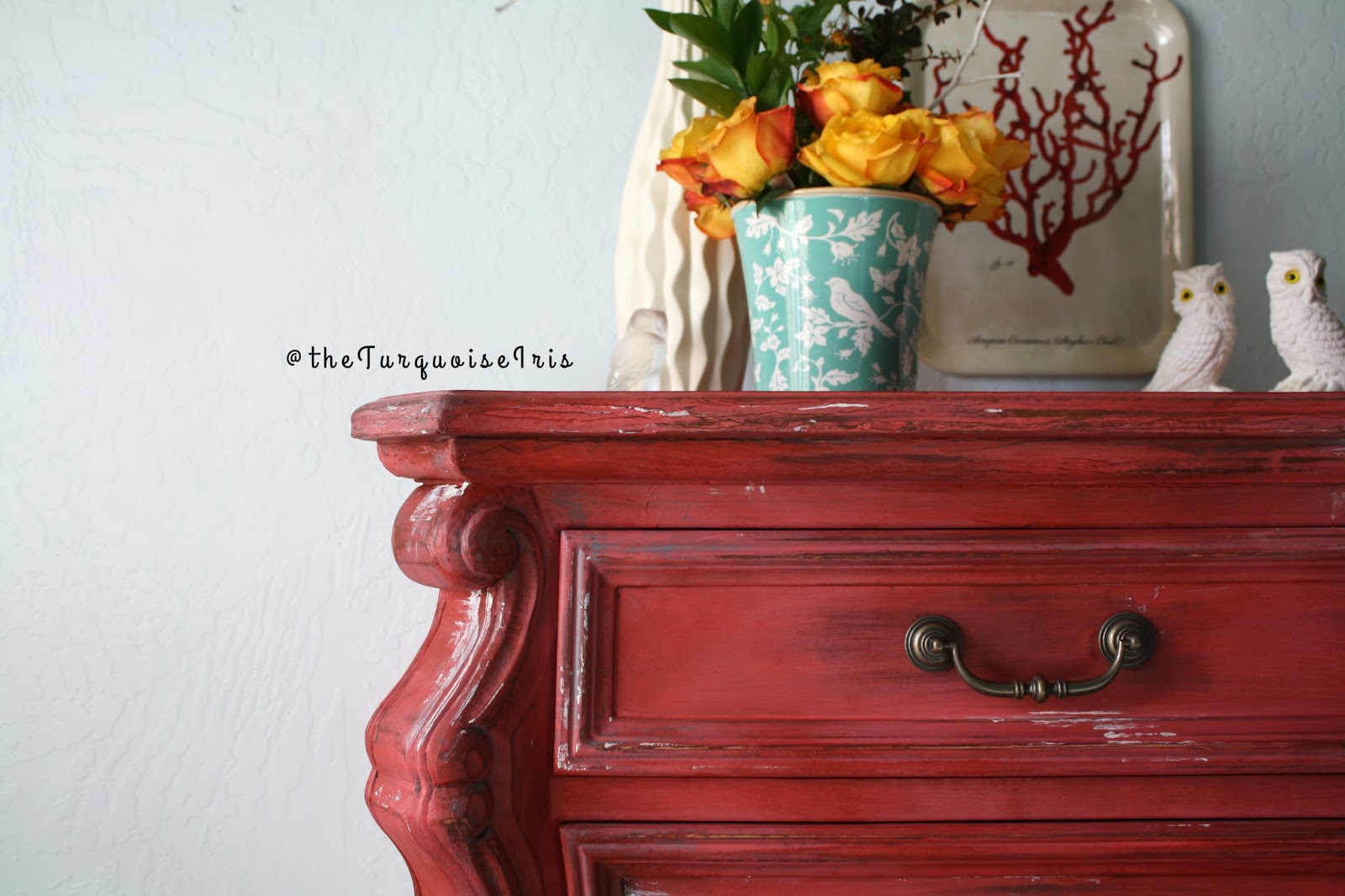 furniture curves for days here with this coral red chest furniture