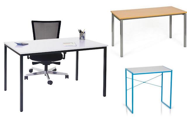 Mesas de escritorio versátiles