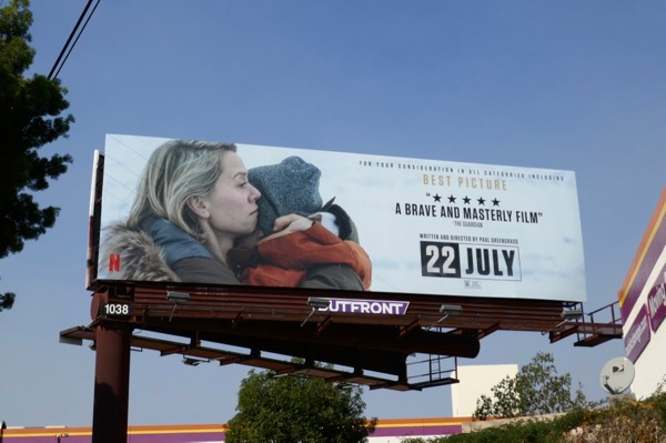 22 July For your consideration billboard