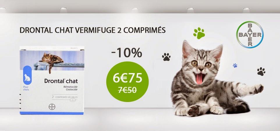 Promotion Véto Malin Drontal Chat Vermifuge 2 Comprimés
