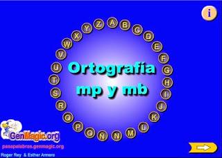 http://cpvaldespartera.educa.aragon.es/pasapalabras2/ortografia_mp_mb.swf