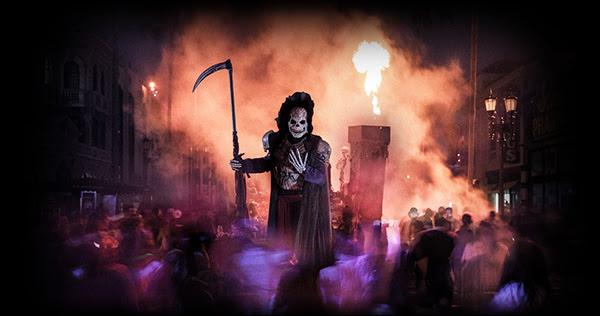 Muito susto e terror na maior festa de halloween de Orlando