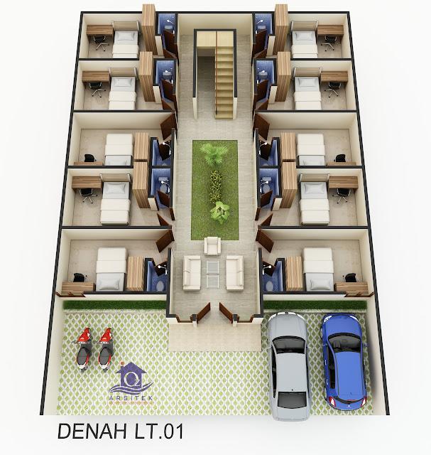 Desain Eksterior & Interior Kost di Depok