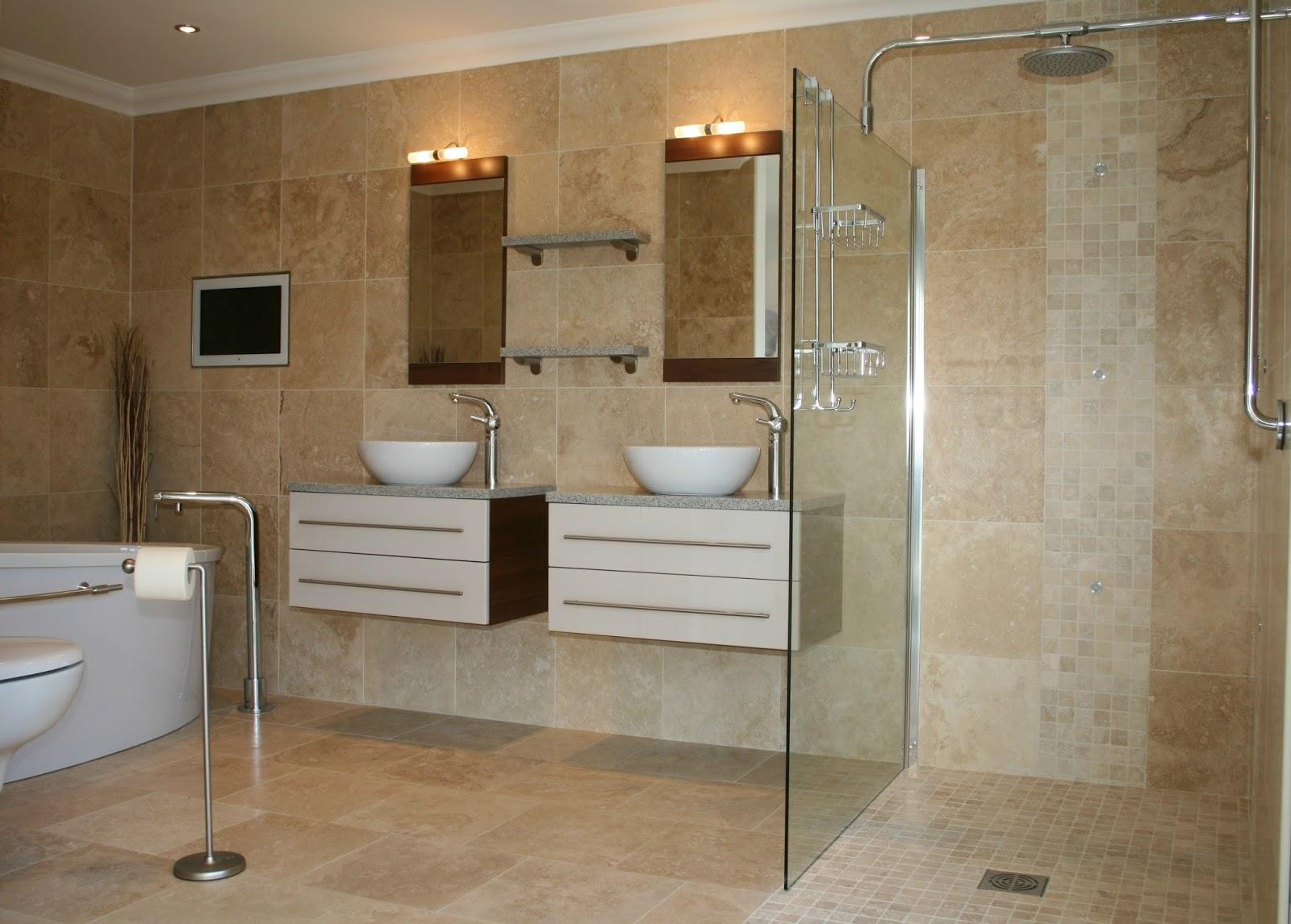 Carrelage imitation pierre sale de bain - Enlever calcaire carrelage salle de bain ...