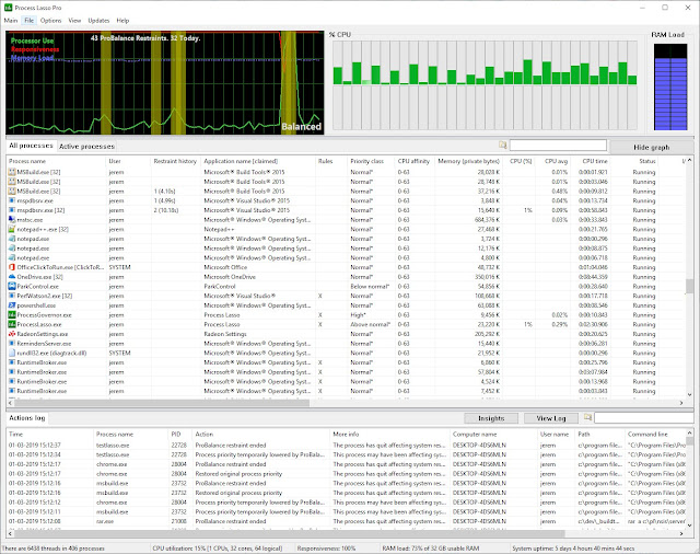 Bitsum Process Lasso Pro imagenes