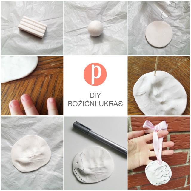 DIY božićni ukras - bebin otisak dlana