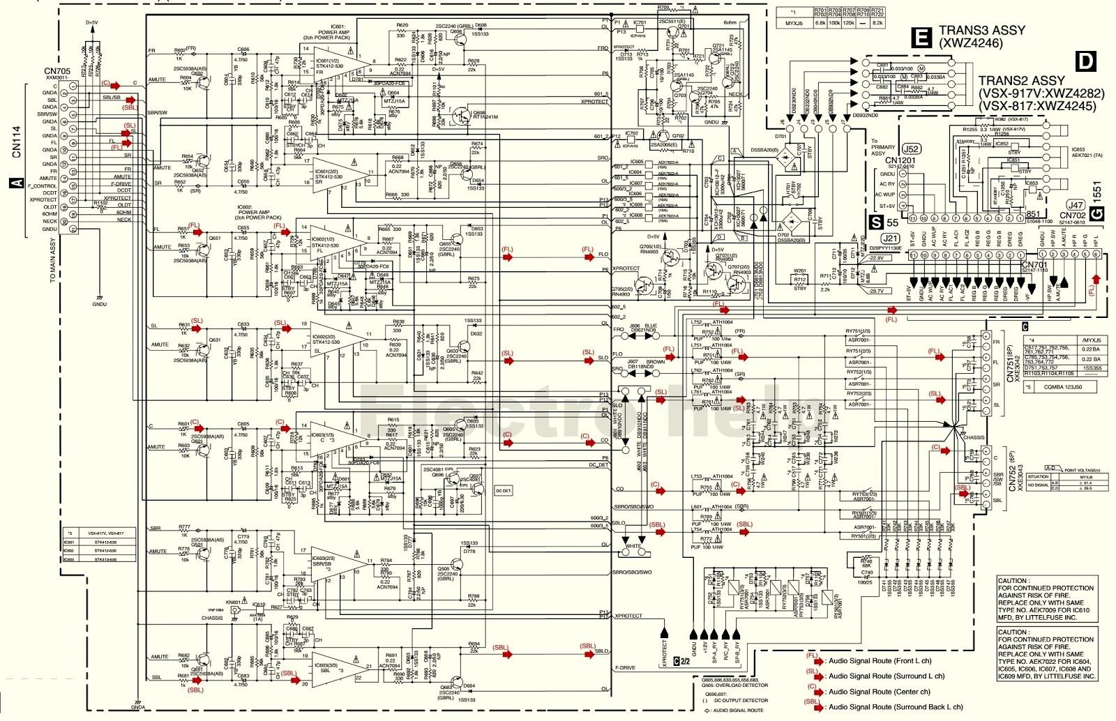 Electro Help  Pioneer Vsx 817  U2013 Vsx 917 Power Amplifier
