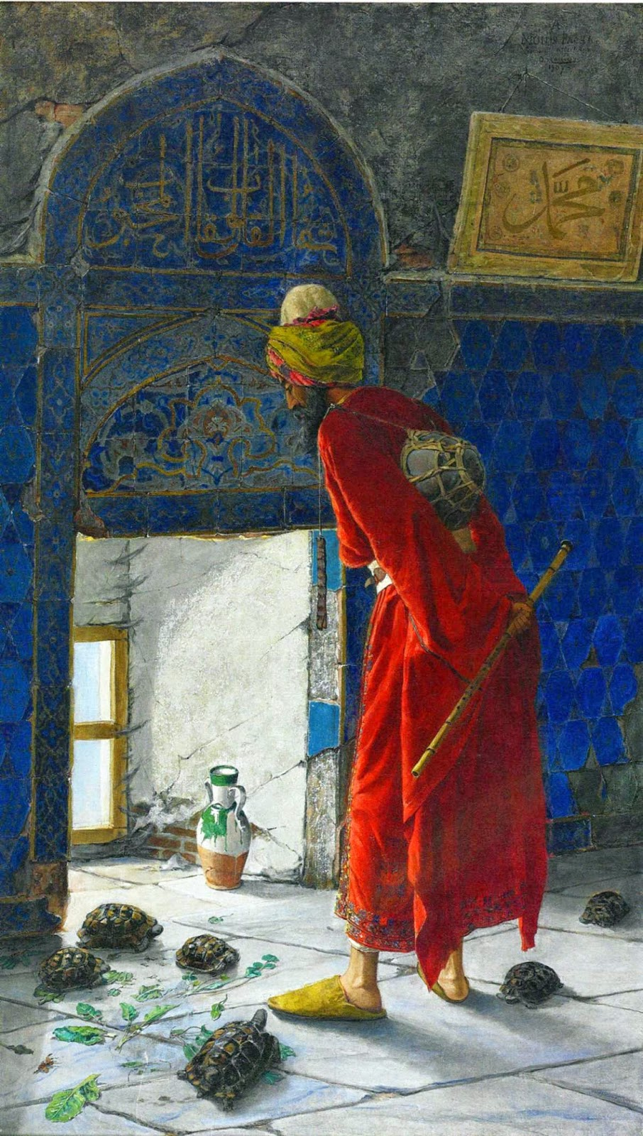 Osman Hamdi Bey - the turtle trainer