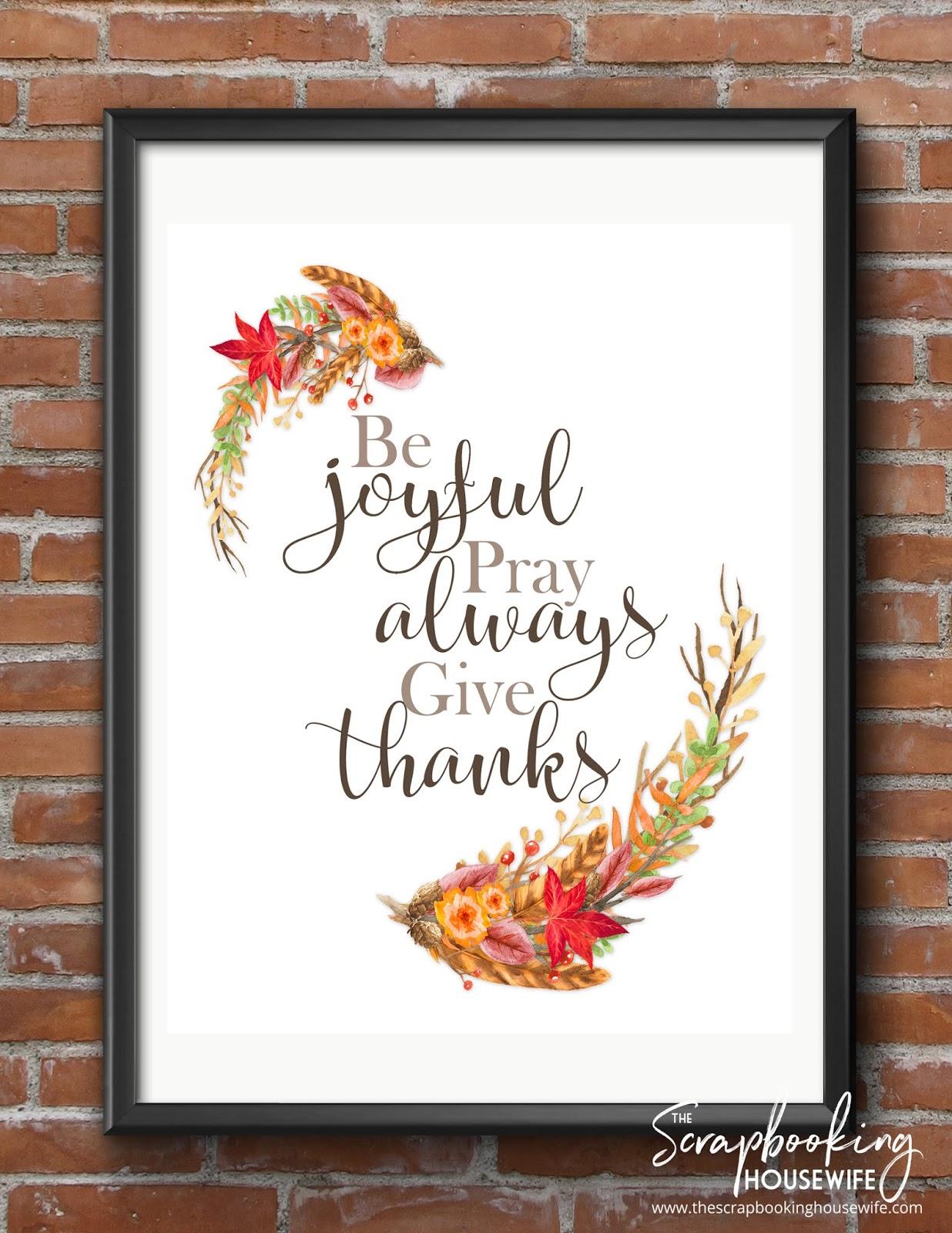 Ellabella Designs Free Fall Thanksgiving Wall Art Printables