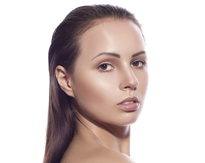 woman-with-beautiful-skin from a home facial
