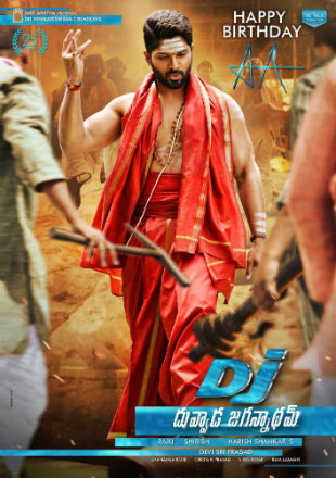 Dj Duvvada Jagannadham 2017 DTHRip 450MB Hindi Dual Audio 480p Watch Online Full Movie Download bolly4u