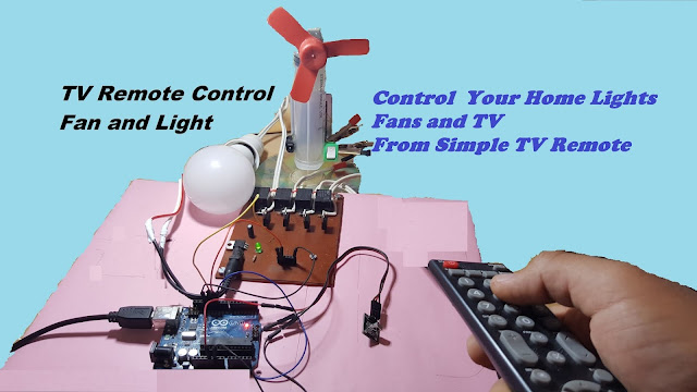 Control of home appliances from TV remote arduino project
