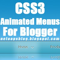 Awesome CSS3 animated Menu for blogger Blog