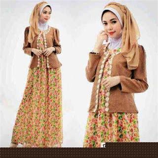 model gamis batik kombinasi anak muda