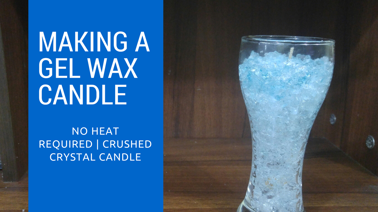 DIY Craftopedia: Crystal Gel Wax Candle | Easy No Heat