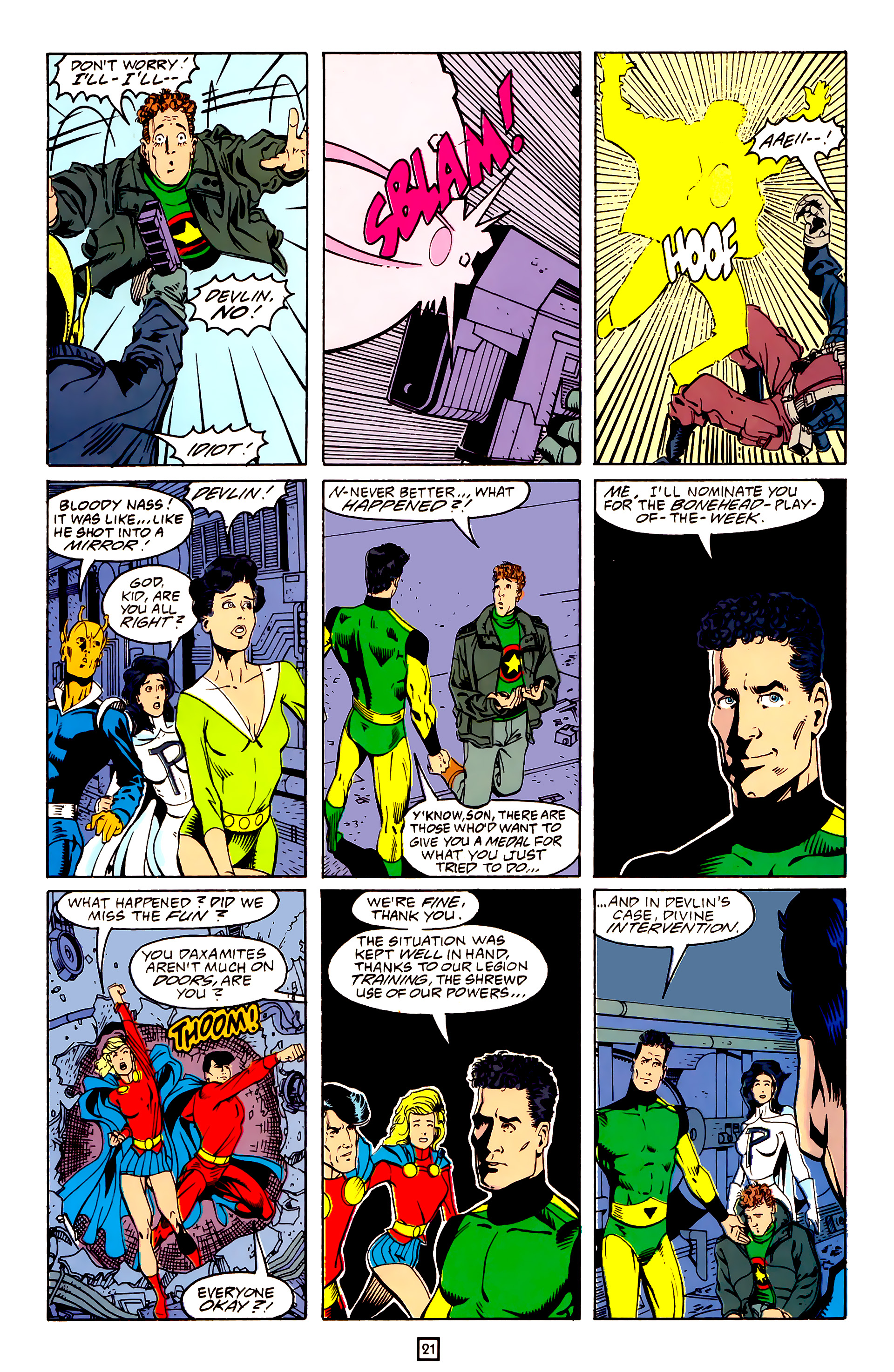 Legion of Super-Heroes (1989) 25 Page 21