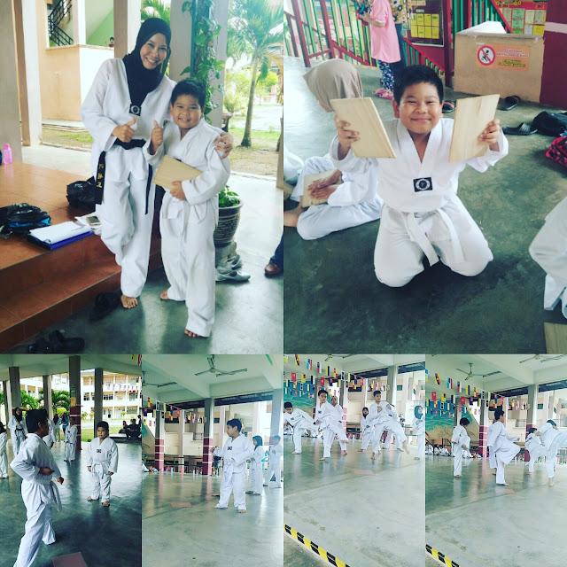 Abang Ammar First Taekwondo Grading