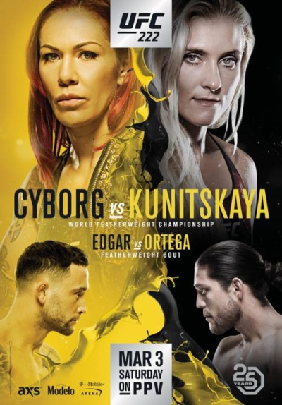 Watch UFC 222 Online Free 2018 Putlocker