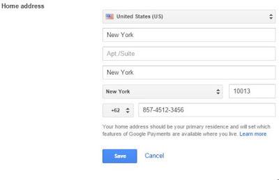 Cara membuat google wallet - ubah negara ke US