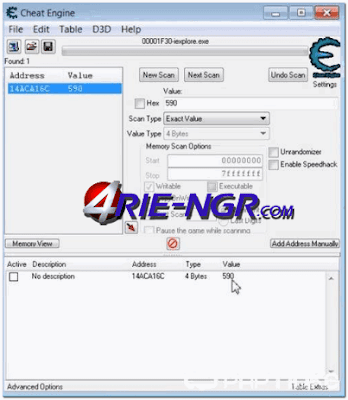 Cheat Engine 6.5.1 Terbaru Gratis
