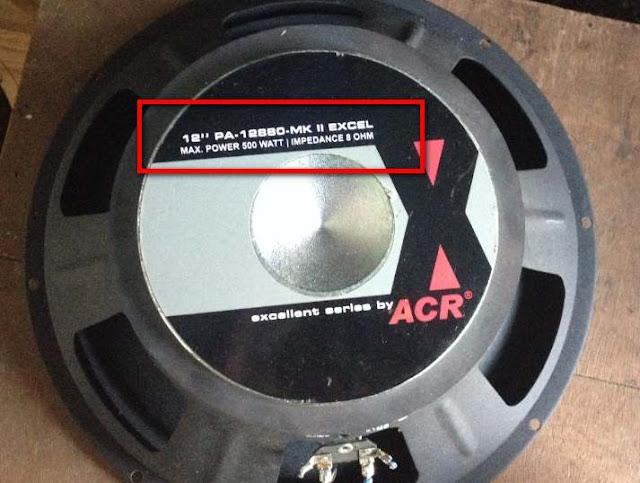 Ukuran Watt Power Amplifier dan Speaker