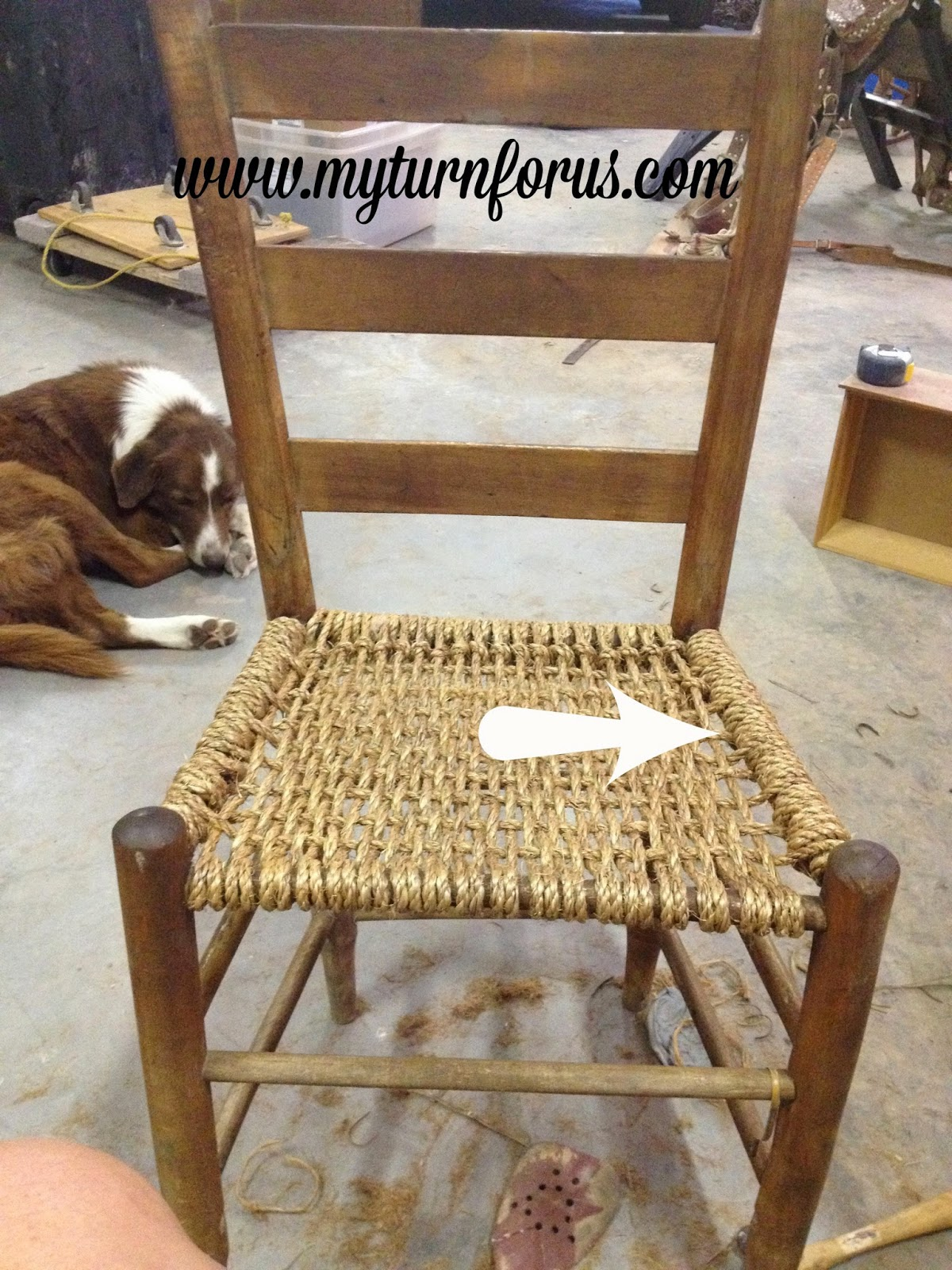 string chair seat gym exercise chart rope or hemp bottomed