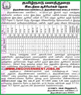 forest-department-tiruvannamalai-secondary-grade-teachers-post-notification-tngovernmentjobs