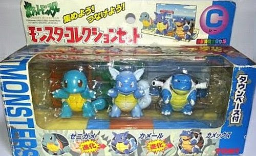 Squirtle Pokemon figure Tomy Monster Collection Set-C