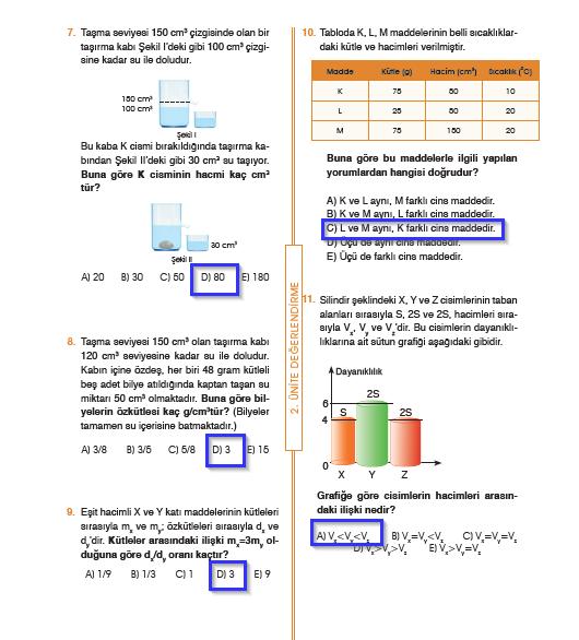 9.Sınıf Fizik MEB Yayınları Ders Kitabı 102.Sayfa Cevapları 2. Ünite Değerlendirme (Yeni Müfredat)