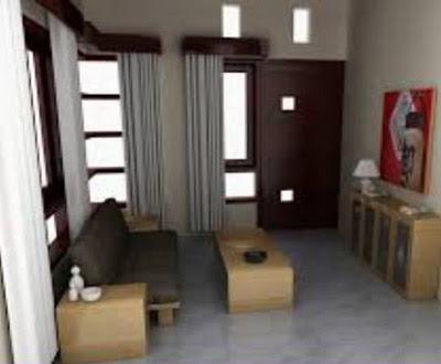 ruang tamu bagus di rumah sederhana