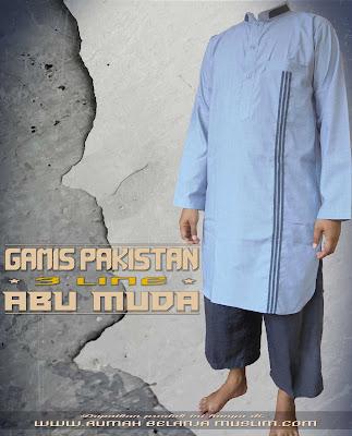 Gamis Pakistan 3 Line Abu Muda