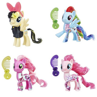 MLP The Movie Brushables Songbird Serenade, Rainbow Dash, Cheerilee and Rainbow Dash