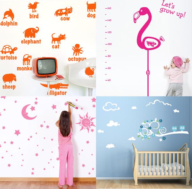 Decorare la cameretta con gli stickers murali in vinile bambini